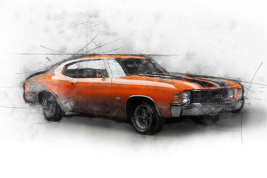 Papier peint Muscle Car