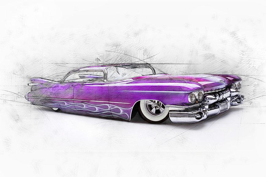 Papier peint Pink Cadillac