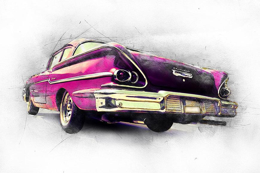 Papier peint Pink Chevrolet