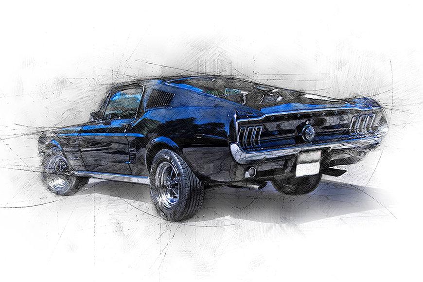 Papier peint Pure Mustang