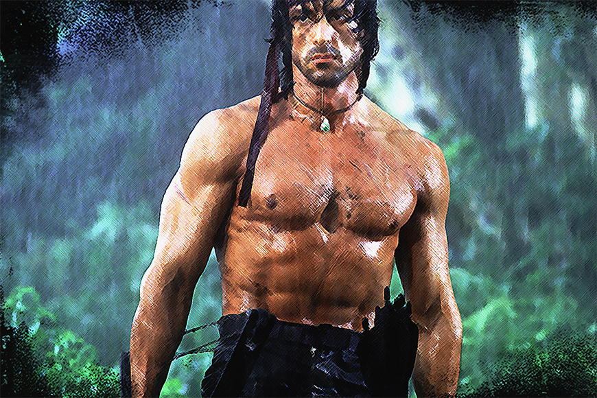 Papier peint Rambo 120x80cm et plus