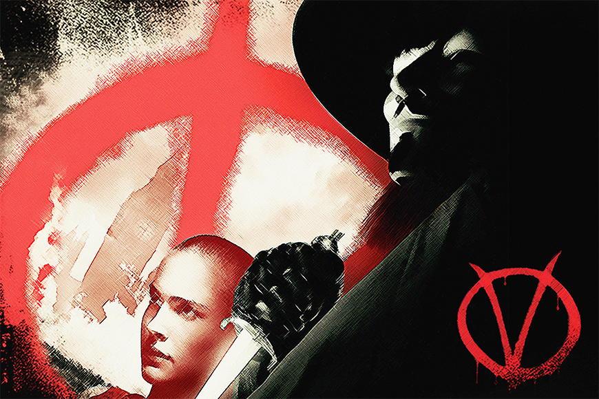 Papier peint Vendetta 120x80cm et plus