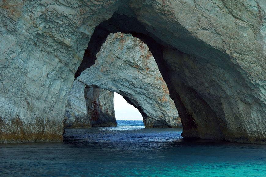 Papier peint photo Blue Caves 120x80cm et plus