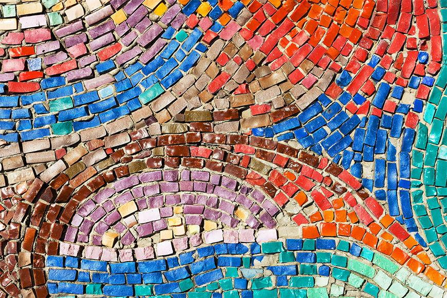 Papier peint photo Mosaïque de couleurs 120x80cm et plus