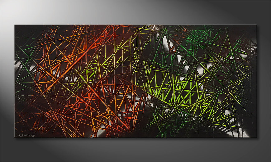 Art moderne Jungle Fever 150x70x2cm