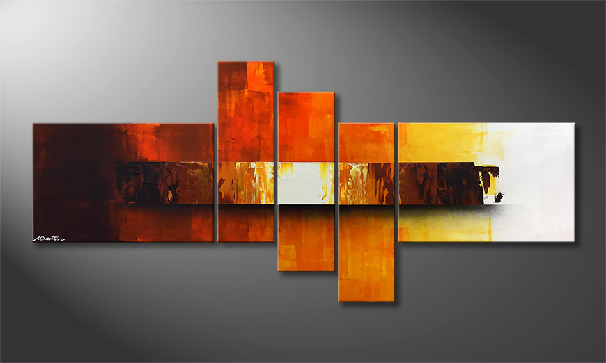La belle peinture Fiery Illumination 210x80x2cm