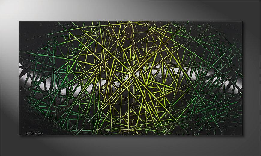 La belle peinture Green Rumble 140x70x2cm
