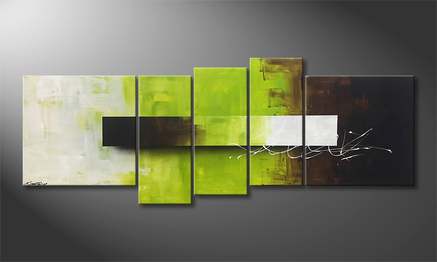 Le tableau exclusif Green Day 210x80x2cm