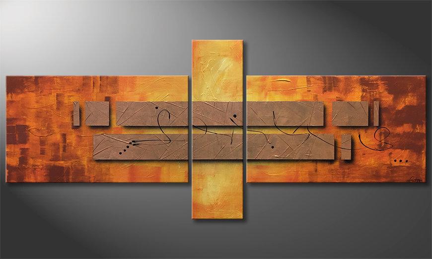 Le tableau exclusif Pieces of Afterglow 230x100x2cm