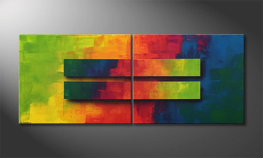 Le tableau moderne Colored Boxes 200x80x2cm