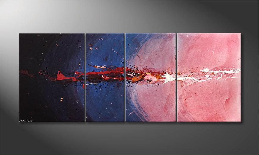 Le tableau moderne Deep Sea Eruption 170x70x2cm
