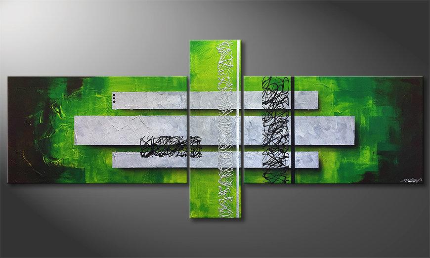 Le tableau moderne Green Inspiration 230x100x2cm