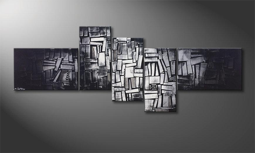 Le tableau moderne Light Cubes 210x80x2cm