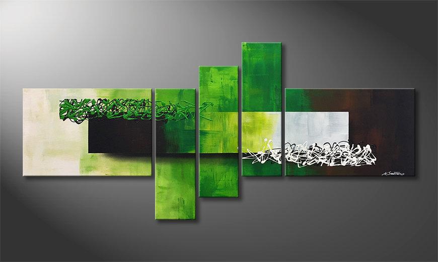 Le tableau moderne Playful Meadow 210x80x2cm