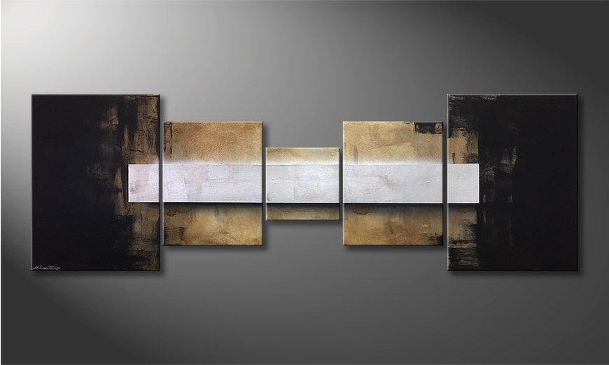 Le tableau moderne Shinning Silver 210x70x2cm