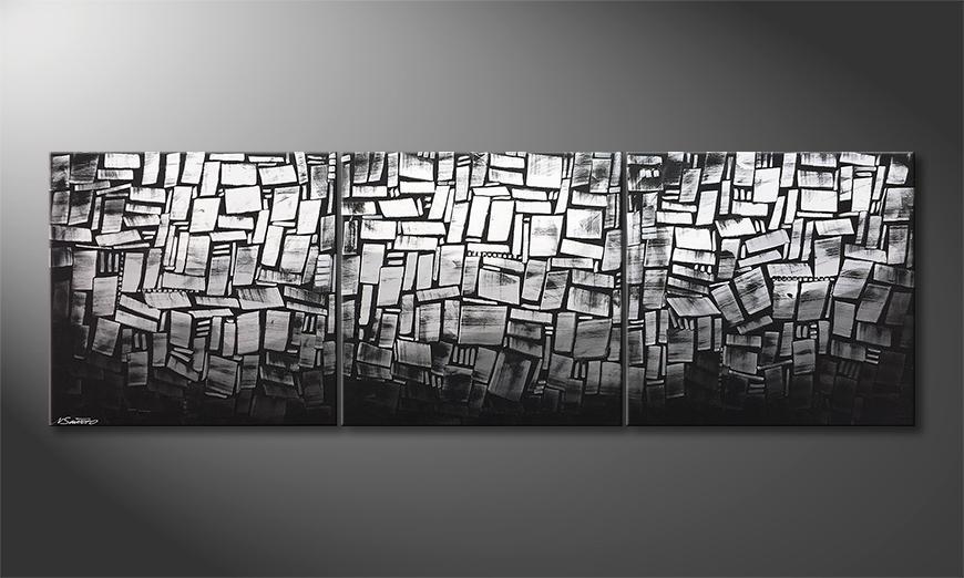 Le tableau moderne Winter Morning 240x80x2cm