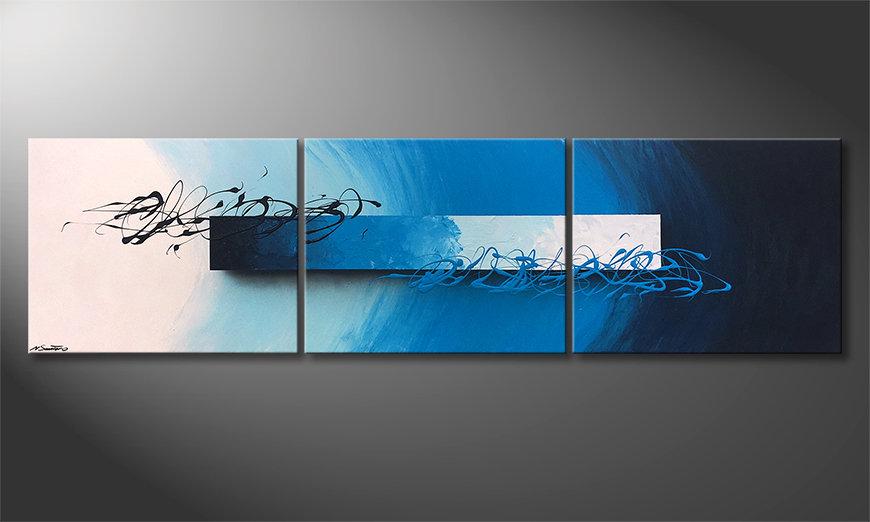 Le tableau mural Deep Sea Signs 225x60x2cm