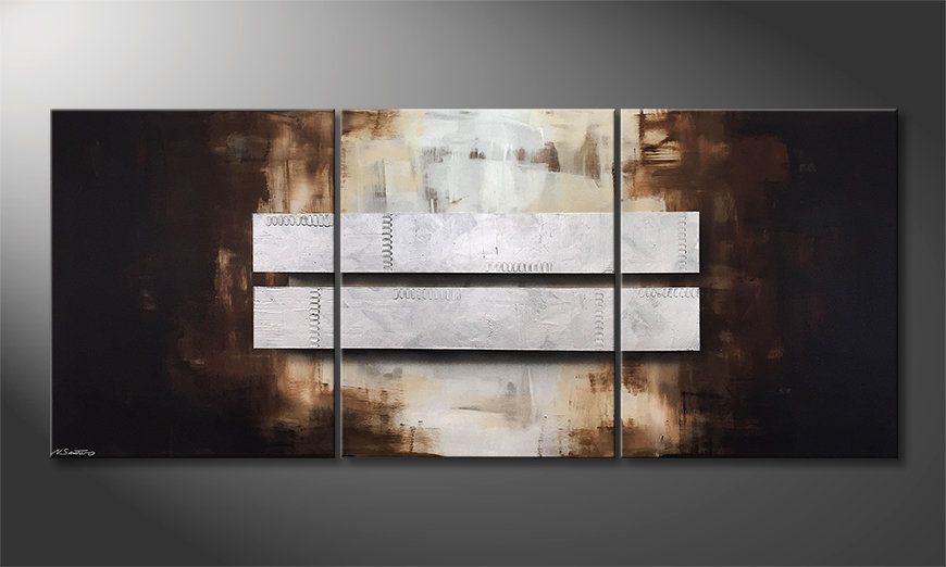 Le tableau mural Fortunate Silver 210x90cm