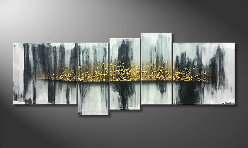 Le tableau mural Golden Future 210x80x2cm