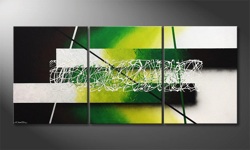 Le tableau mural Green Connection 180x80x2cm