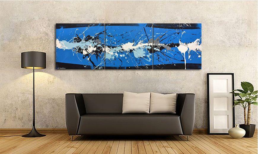 Le Tableau Pour Salon Coltish Blue 210x70x2cm