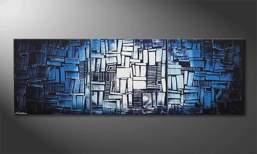 Le tableau pour salon Ice Cubes 210x70x2cm