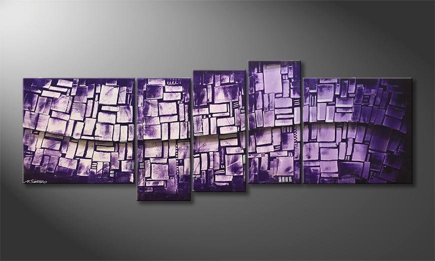 Le tableau pour salon Purple Stones 210x80x2cm