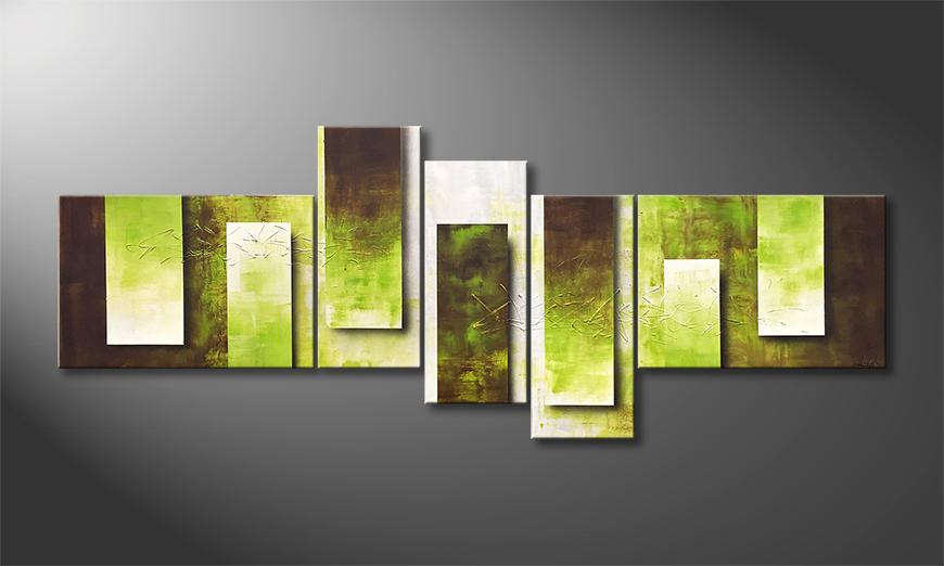 Peinture sur toile Green Tide 230x90x2cm