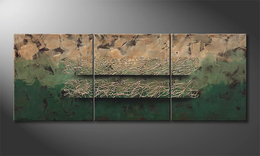 Peinture sur toile Jungle Horizon 180x70x2cm