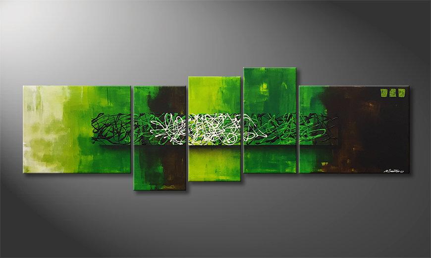 Peinture sur toile Natural Mind 210x70x2cm